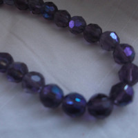 Lovely vintage single strand purple aurora borealis facetted crystal necklace. Ideal , anniversary, birthday gift.