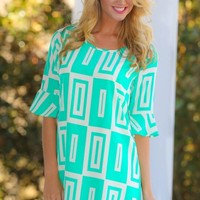 Make You Notice Me Tunic-Spearmint