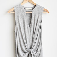 Mansfield Keyhole Knot Top
