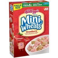 Kellogg's Frosted Mini-Wheats Strawberry Whole Grain Cereal, 21 oz - Walmart.com