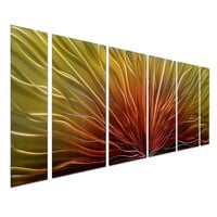 Original Handcrafted Aluminum 3D Metal Wall Art Peacock Feather