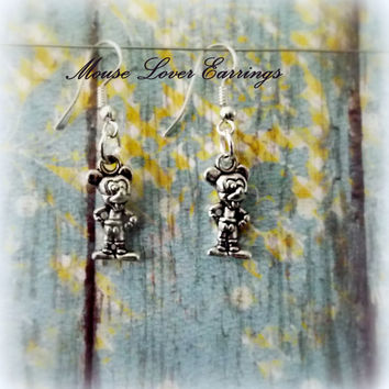 The Mouse Earring, Silver Earrings, Gifts for Her, Girls Jewelry