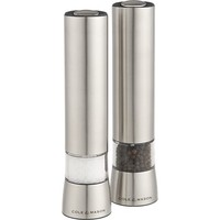 Cole & Mason Hampstead Electric Salt and Pepper Mills with Light