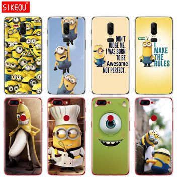silicone cover phone case for Oneplus one plus 6 5T 5 3 A3000 A5000 Mike Wazowski minions banana