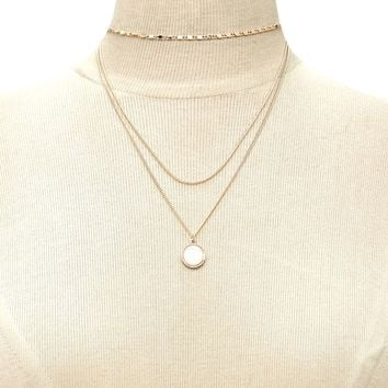 Faux Gem Layered Necklace