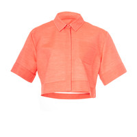 Cotton Silk Cropped Shirt | Moda Operandi