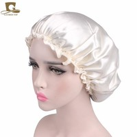 New Women Beauty Salon Cap Night Sleep Cap Head Cover Satin Bonnet Hat  For Curly Springy hair chemo cap