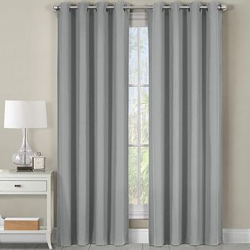 Gray 54x84 Heavyweight Room-Darkening Grommet Curtains Single Panel