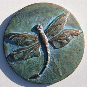 Concrete Dragonfly Plaque