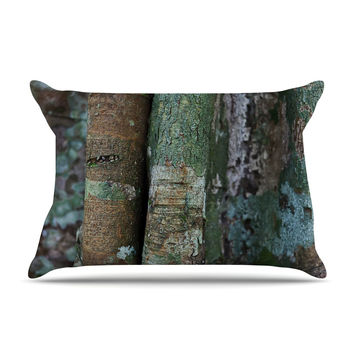 "Susan Sanders ""Into the Woods"" Brown Rustic Pillow Sham"