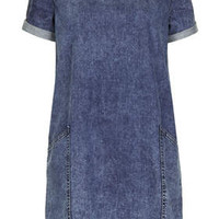MOTO Acid Pocket T-Shirt Dress - Indigo