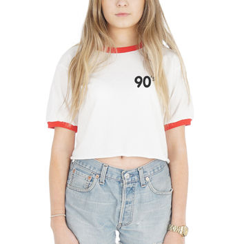 90's Pocket Crop Ringer Shirt