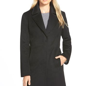 Women's Fleurette Loro Piana Wool Notch Collar Coat,