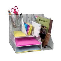 Design Ideas Desk Organizer, Mesh, Silver