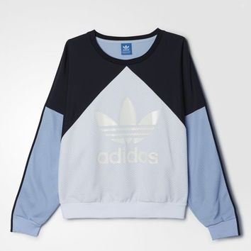 adidas Helsinki Authentic Trefoil Crewneck - Blue | adidas UK