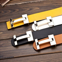 Men and women fashion designer belts, business and casual leather belts