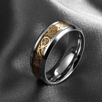 Fine jewelry Dragon 316L stainless steel Ring high quality Mens Jewelry Wedding Band male ring for lovers
