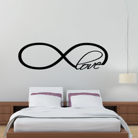 Infinity Love Symbol Wall Decal Decor Art Vinyl Quote