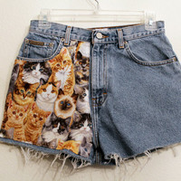 cat high waisted shorts 27 inches