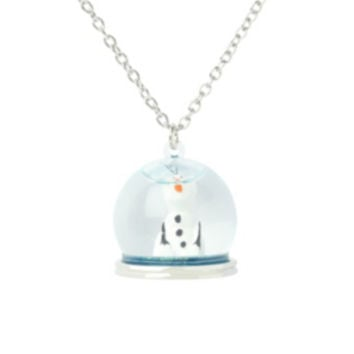 Disney Frozen Olaf Snow Globe Necklace