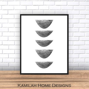 Abstract wall art, Digital print, minimalist poster, Scandinavian print, black abstract, home decor, wall print, mid century modern,