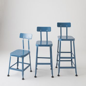 Backed Utility Stool