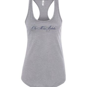 Official NCAA University of Mississippi Rebels Ole Miss Hotty Toddy Next Level Racerback Tank - 61UOLM