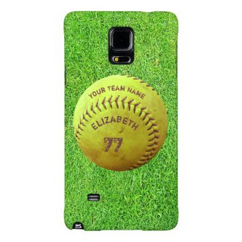 Softball Dirty Name Team Number Ball Phone Case Galaxy Note 4 Case
