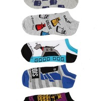 Doctor Who No-Show Socks 5 Pair - 374313