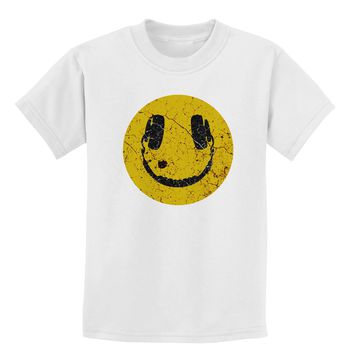 EDM Smiley Face Childrens T-Shirt by TooLoud