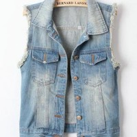 West Street Style Denim Vest