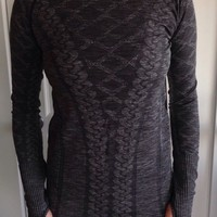 Lululemon Size 8 Rest Less Pullover Long Sleeve NWT Black Gray Swiftly Run