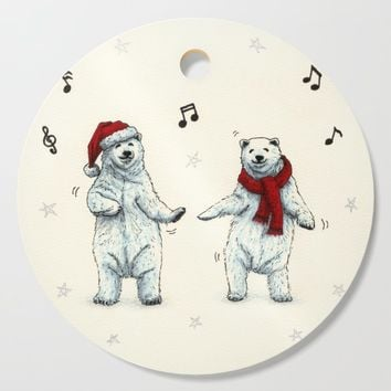 The polar bears wish you a Merry Christmas Cutting Board by savousepate