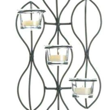 Cast Iron Propel Candle Wall Sconce