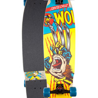 Santa Cruz X Marvel Wolverine Hand Cruzer Skateboard Multi One Size For Men 26051195701