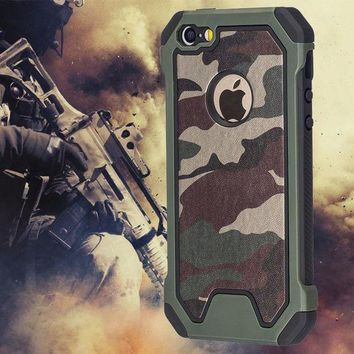DCCKJN2 Military Camo Green Case For iPhone 7 Plus 6 5S 6S SE 7Plus