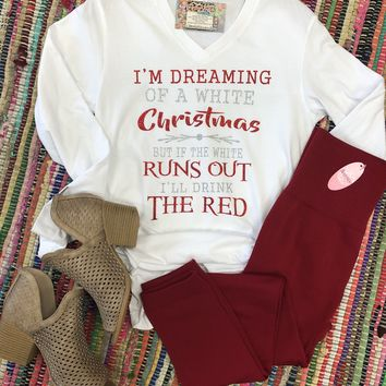 I'm dreaming of a white Christmas long sleeve tee