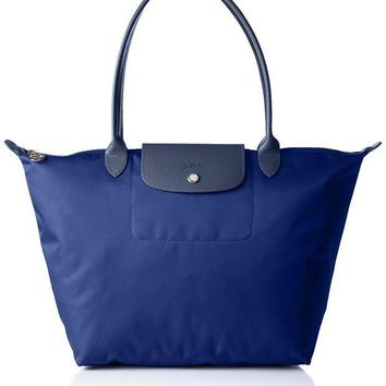 ONETOW Longchamp Women's Le Pliage Neo Sac Shopping Shoulder Bag, Navy