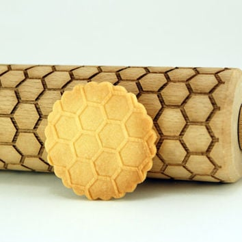 HONEYCOMB – Embossing wooden rolling pin