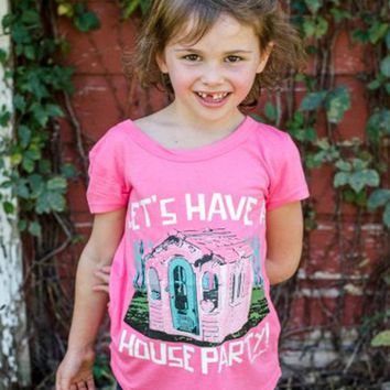Southern Grace Spring Lets Have A House Party Shirt