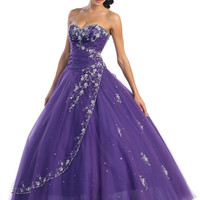Prom Dresses! Precious Purple Loren Quinceanera or Prom Gown - 4 to 16 - Unique Vintage - Cocktail, Pinup, Holiday & Prom Dresses.