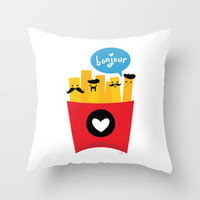 French Fries Throw Pillow by Wedgienet.net