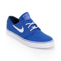 Nike SB Zoom Stefan Janoski Old Royal Blue & White Canvas Shoe at Zumiez : PDP