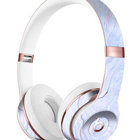 Subtle Purple Textured Marble Full-Body Skin Kit for the Beats by Dre Solo 3 Wireless Headphones
