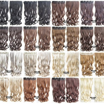 16Colors Bath & Beauty 5 Clip in synthetic hair extension hairpieces wavy slice curly hairpiece MIC-888,Hair Care,fashion Cosplay ombre 1PCS