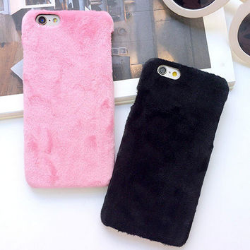 Furry creative case Cover for iPhone 7 5s se 6 6s Plus + Free Gift Box