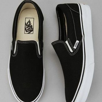 Vans Black/White Classic Canvas Leisure Shoes Black