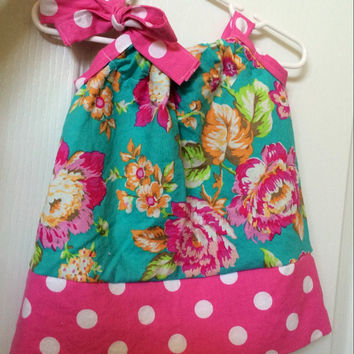 Baby girls floral pillowcase dress 3mo-girls size 8, toddler floral dress, pillowcase dress, girls dress, summer dress, spring floral dress