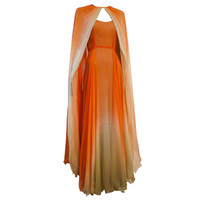 Alfred Bosand - Alfred Bosand Ombré Silk Chiffon 2-Piece Gown
