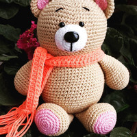 Crochet bear, Amigurumi bear, Teddy Bear, plush cute bear